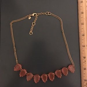 JCrew Coral and Gold Statement Necklace